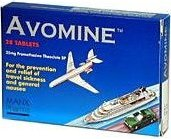 Avomine travel sickness tablets