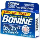 Bonine Chewable Motion Sickness Tablets