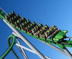 How to avoid getting motion sick on amusement park rides. Photo by adactio, flickr.com/photos/adactio