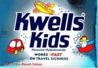 Kwells Kids anti motion sickness tablets