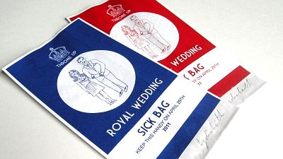 Royal Wedding Sick Bags