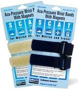 SCAT Acupressure Motion-Aid Wrist Bands with Magnets